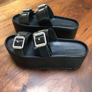 All Saints Platform Sandals Flatform Buckles